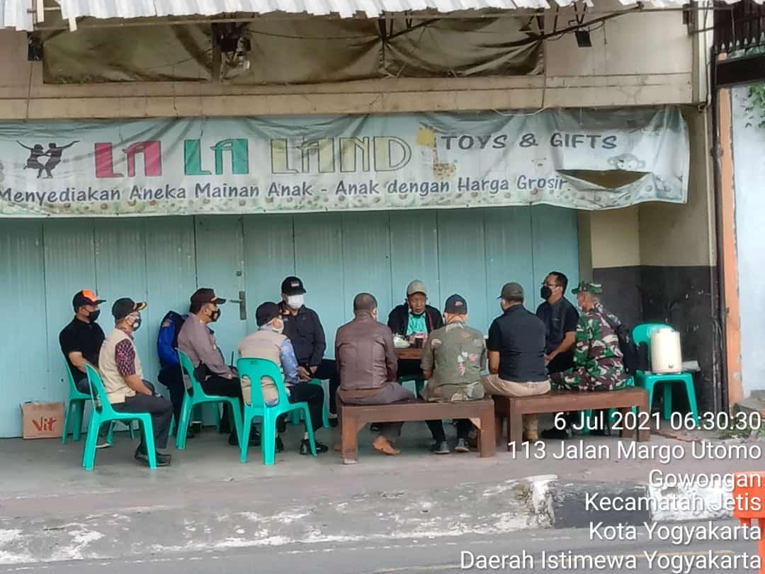 Kegiatan Inspeksi Mendadak (Sidak) Walikota Yogyakarta di Pasar Kranggan Gowongan Jetis Yogyakarta
